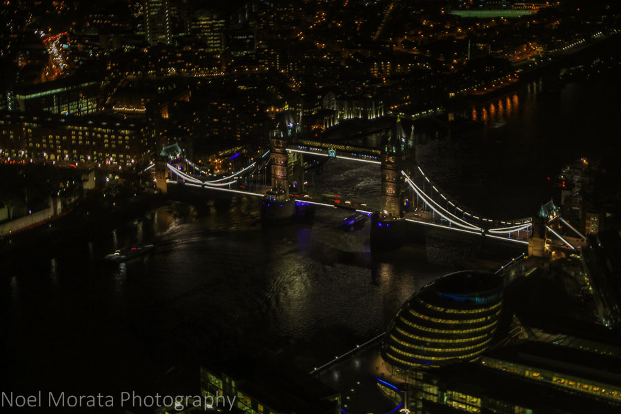 Views of the London Bridge from the Shard