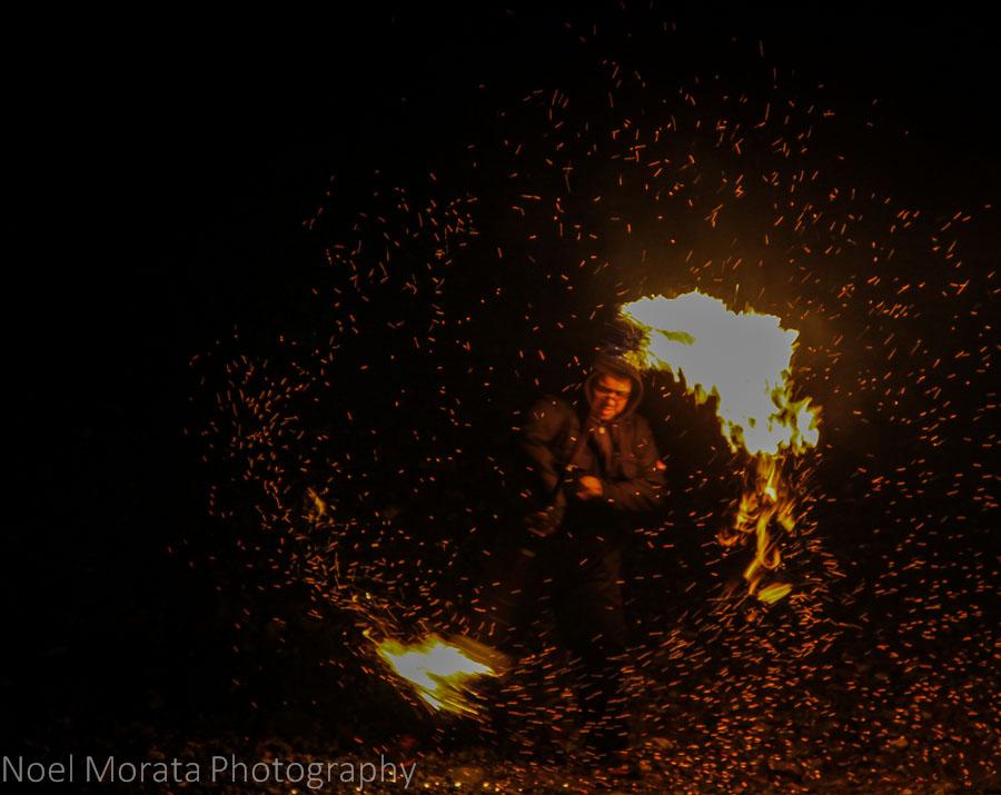 Impromptu fire show at Southbank
