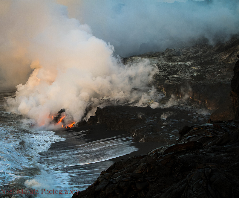Kilauea ocean lava entry April 2013