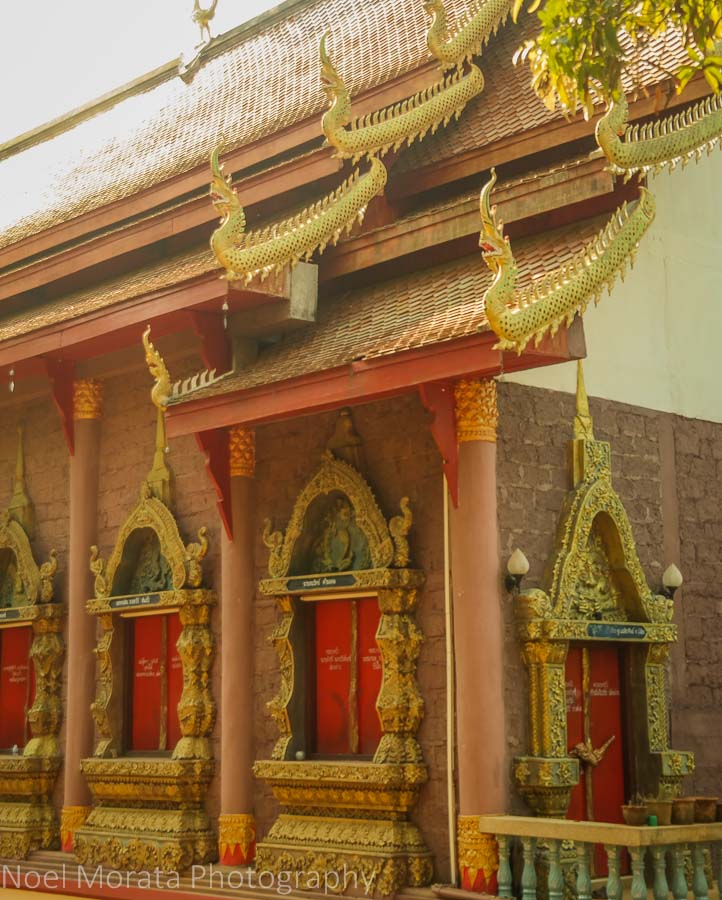 Temple details at Lisu Village in Northern Thailand
