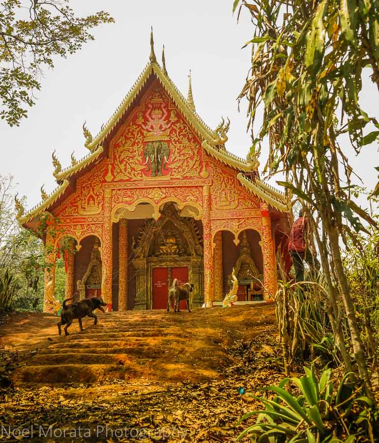 Buddhist temple at Lisu village in Northern Thailand