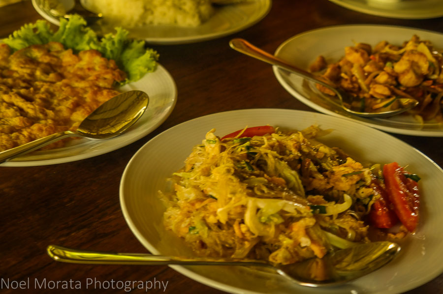 Dinner service at Lisu Lodge in Northern Thailand