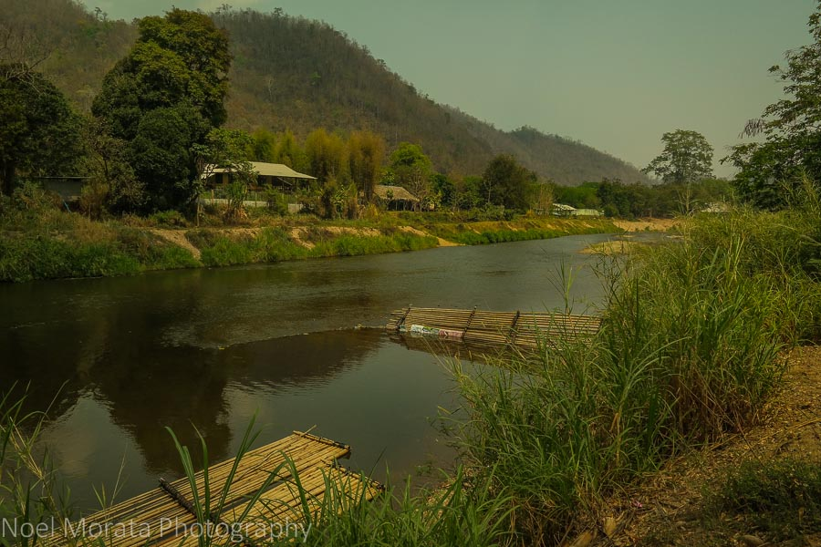 Mae Taeng river and scenic landscape