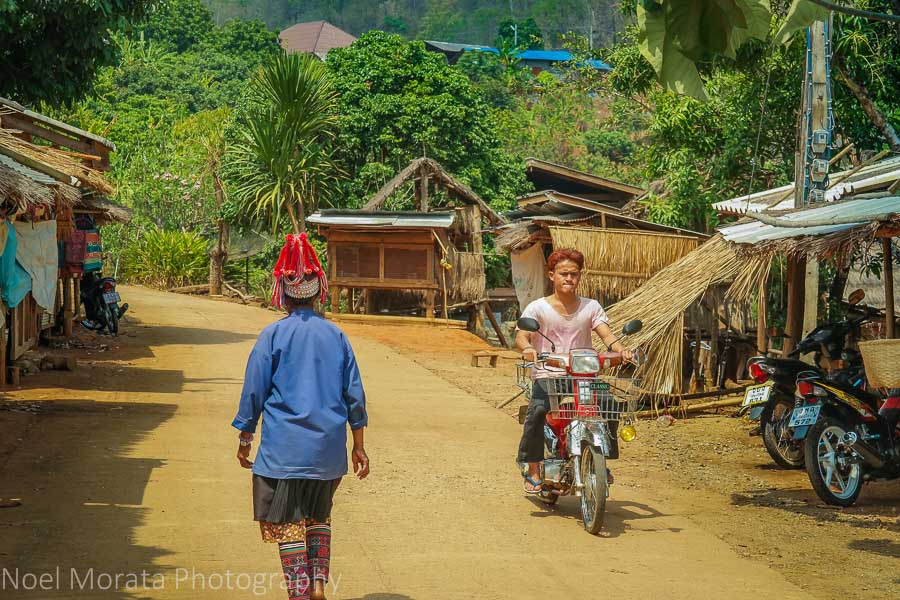 Streets at the Ahka village tribe in Northern Thailand