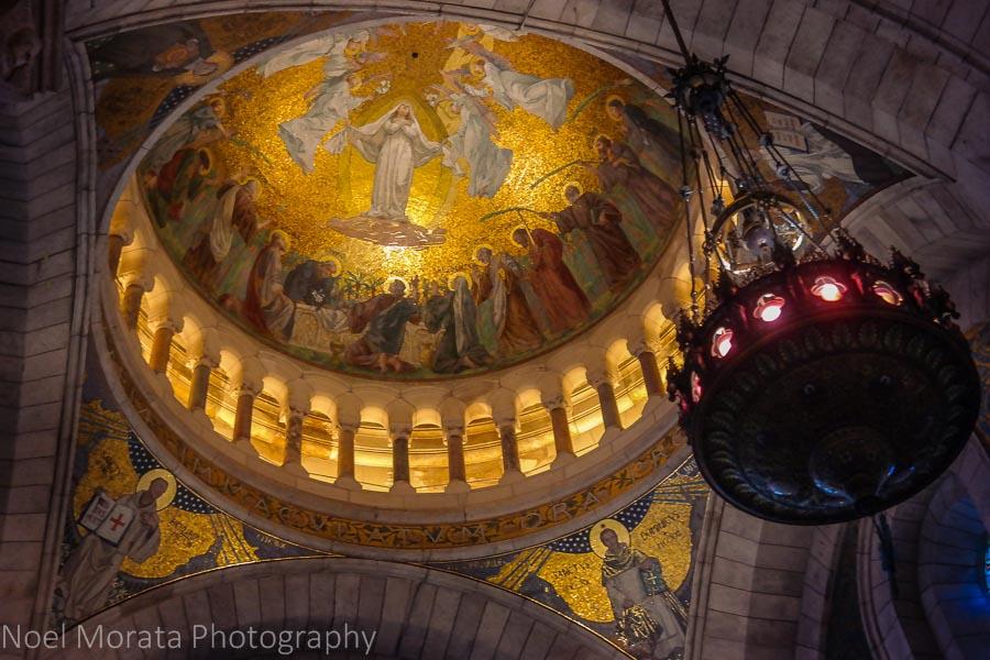 Interior main dome of Sacre Coeur, Paris