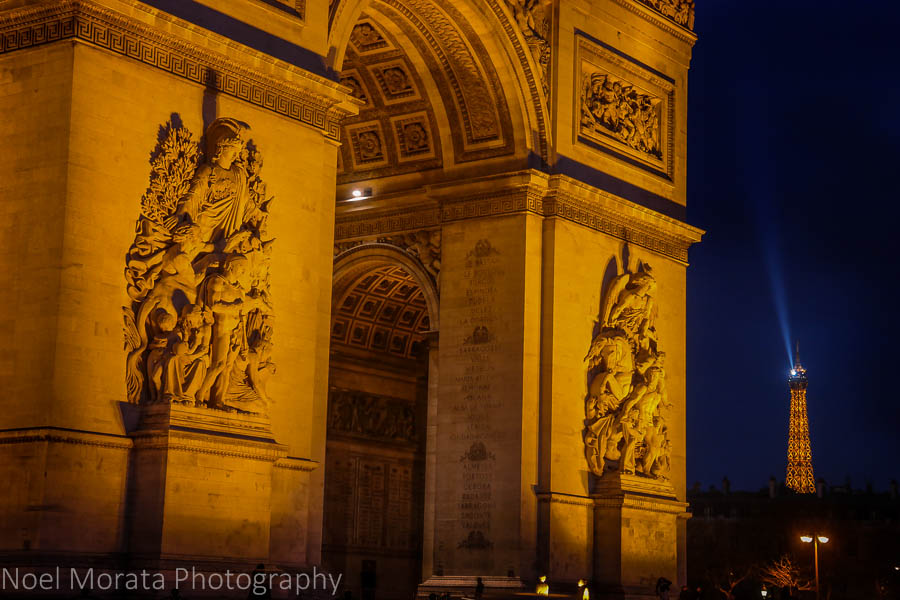 Arc de Triomphe and the Eiffel Tower
