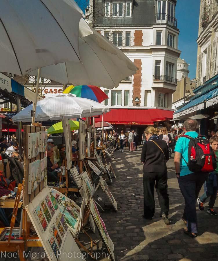 Artist stalls at Monmarte, Paris