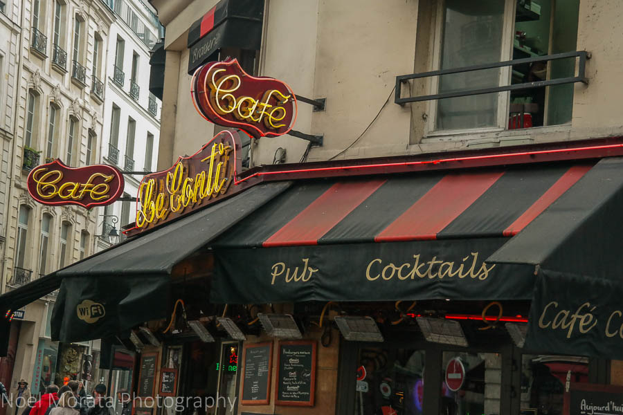 Colorful and trendy cafes in St. Germain des Pres