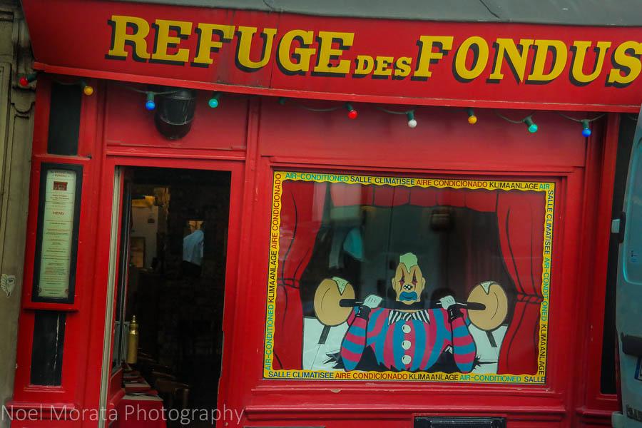 A colorful shop in Montmarte, Paris