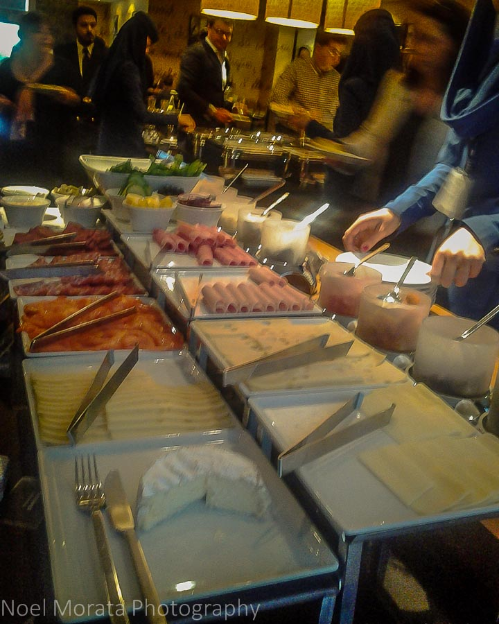 Breakfast buffet service at Movenpick Hotel