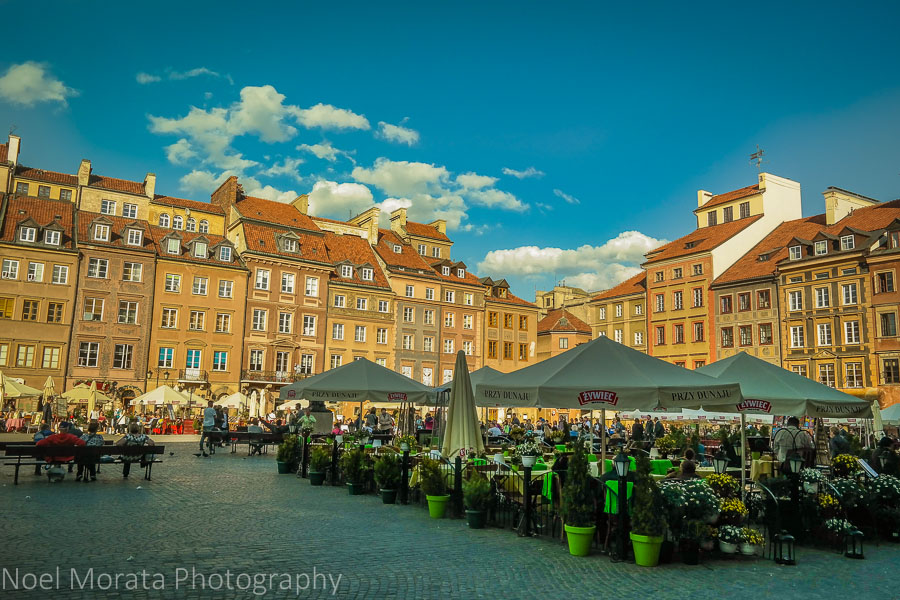 Historic central district at Warsaw, Poland