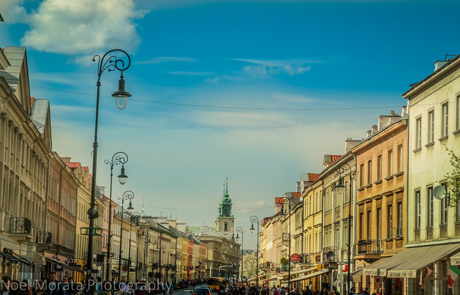 Touring Warsaw: shopping district at