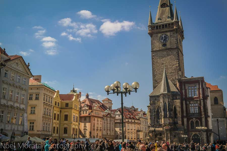 A first impression of Prague - Travel Photo Mondays - main square and town hall tower