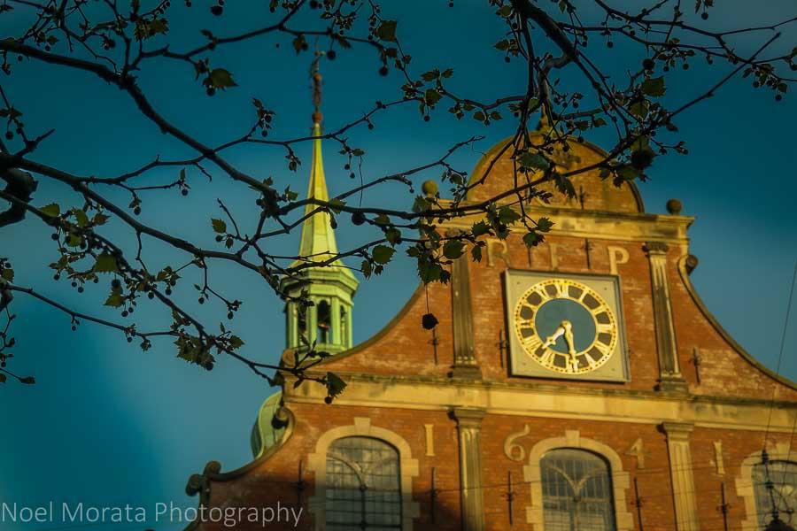 Bricked detail church façade in Central Copenhagen