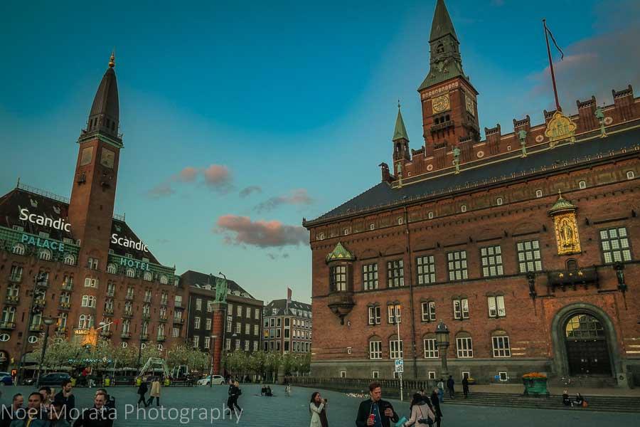 Copenhagen City Hall Square - Fantasy dragon at city hall square - A first impression of Copenhagen, Denmark