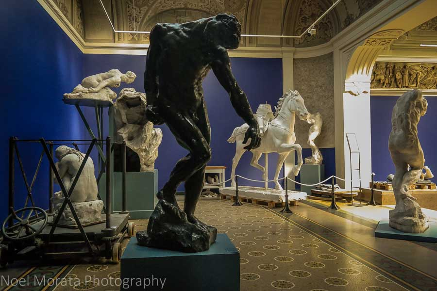 Miscellaneous statuary on display, Glyptotek Museum