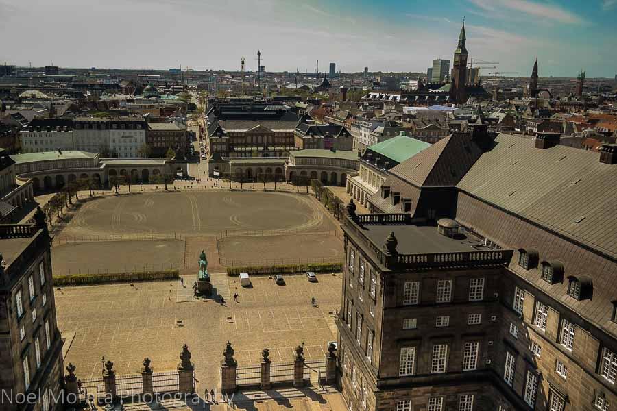 Slotsholmen in the old town of Copenhagen