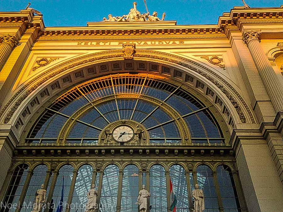 Classical designed train stations -  Budapest main railway station