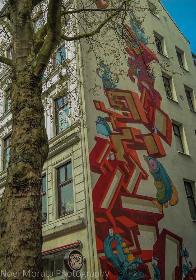 Street art in Schanzenviertel neighborhood, Hamburg
