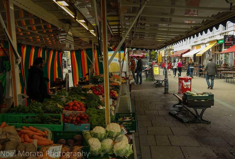 Outdoor markets at Schanzenviertel neighborhood, Hamburg