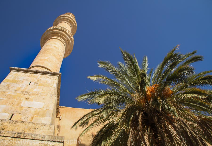 Moorish minaret details in Chania, Crete