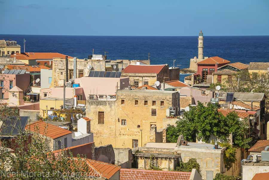 Looking down to the old town of Chania - Exploring Chania,