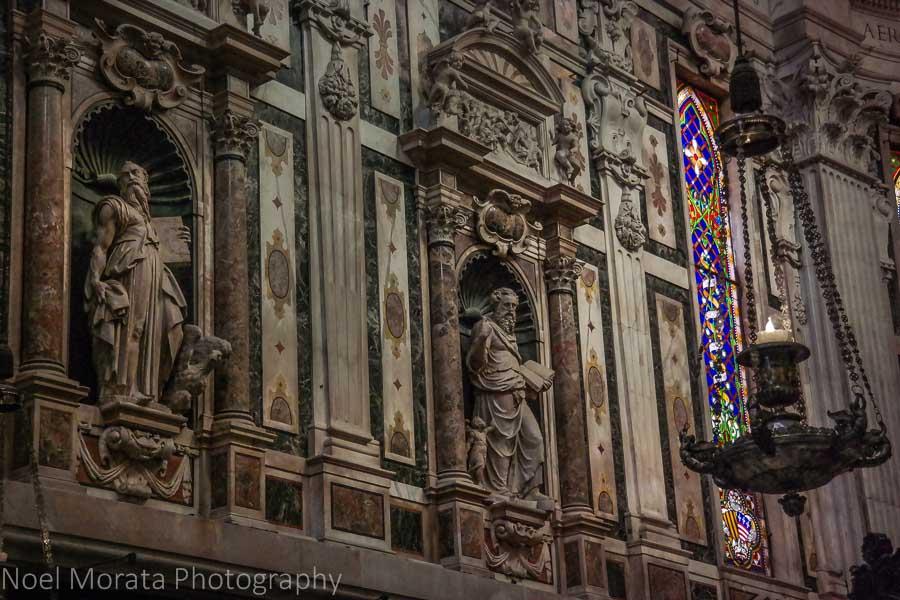 Interior detail Cattedrale di San Lorenzo, Genoa, Italy