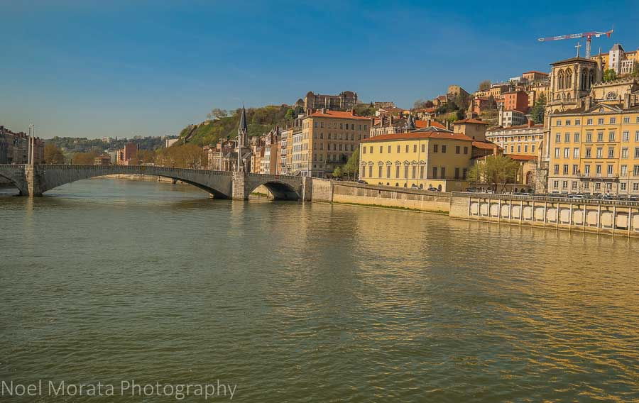 Scenic vista of central Lyon, A first impression of Lyon, France