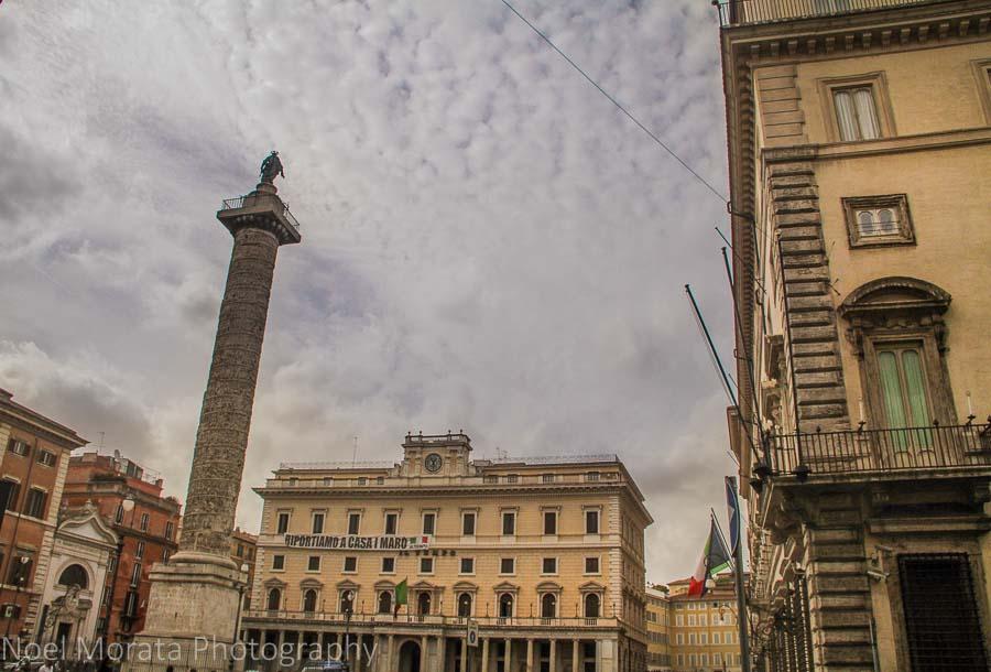 Piazza Colonna in central Rome