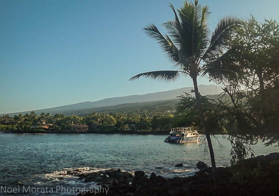 Keauhou harbor area - Travel Photo Postcard - Keauhou, Hawaii