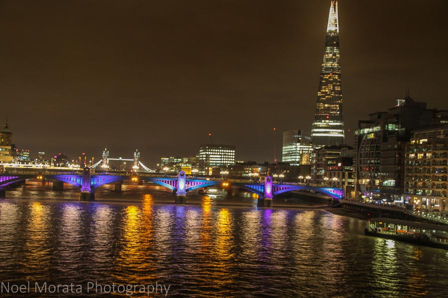 Modern London skyline and the Shard