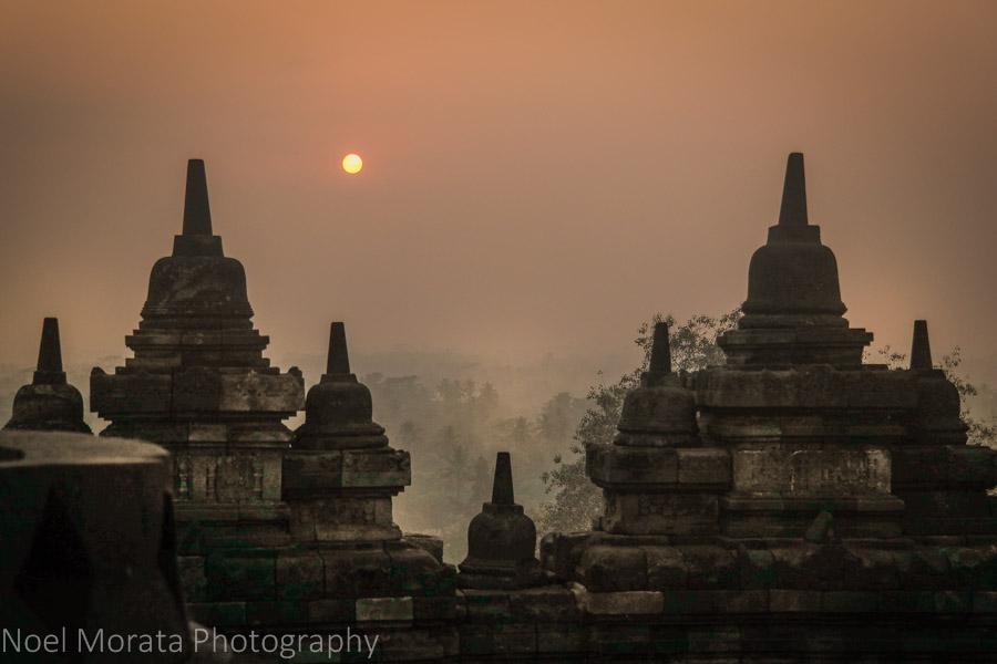 Sunrise at Borobudur,Indonesia