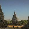 Travel photo postcard - Prambanan Temple, Indonesia