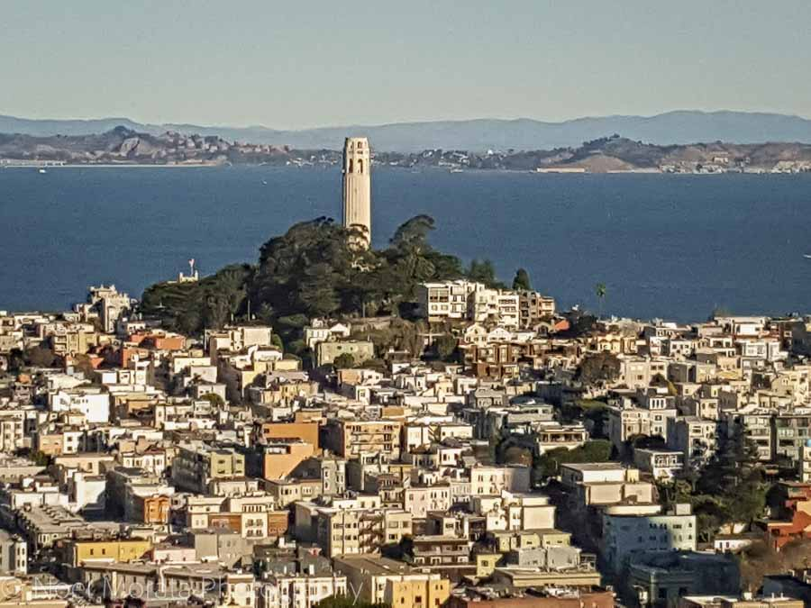 Looking at Coit Tower in San Francisco