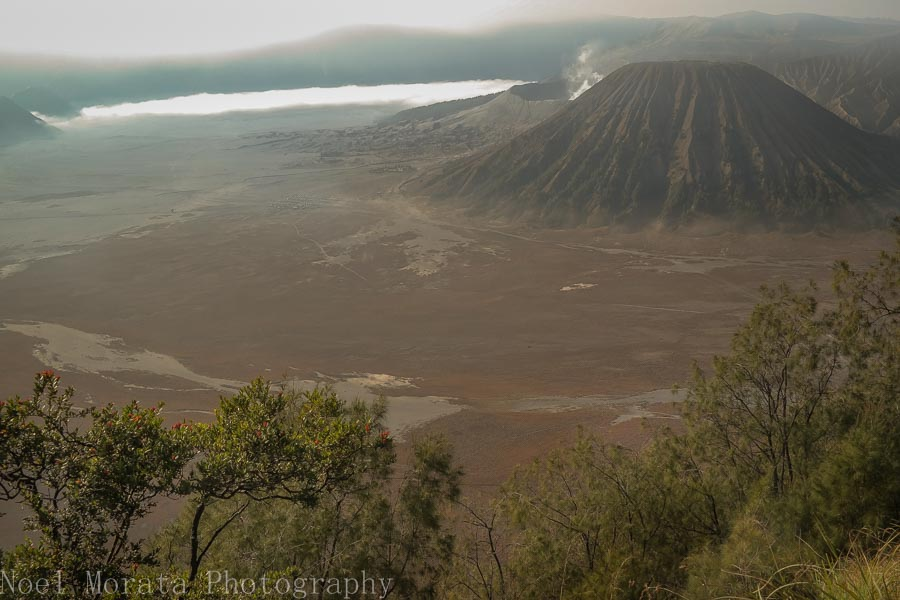Lower lookout point of the Mt. Bromo caldera