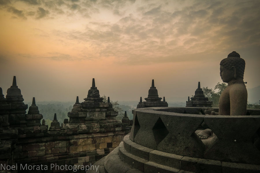 Borobudur sunrise in central Java, Indonesia