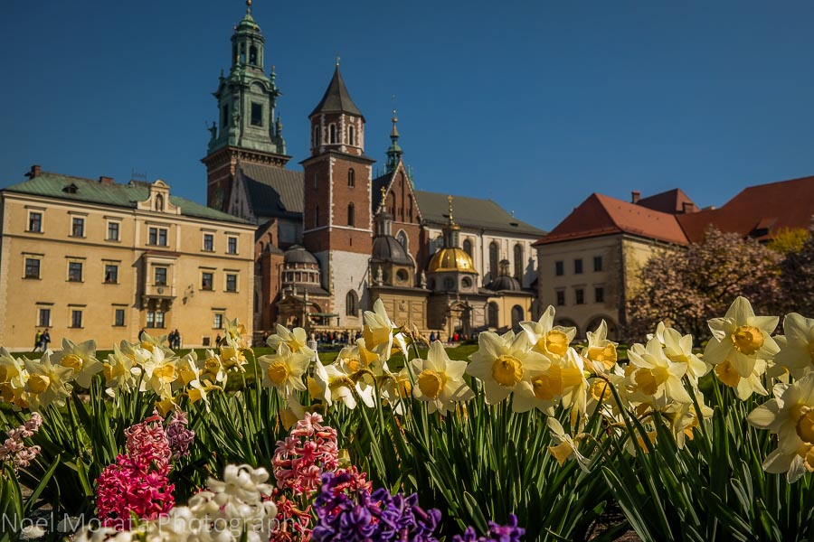 Krakow's historic central district in Poland
