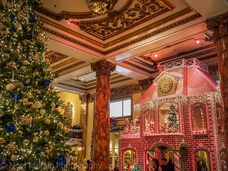 Fairmont Hotel Gingerbread house - Christmas in San Francisco