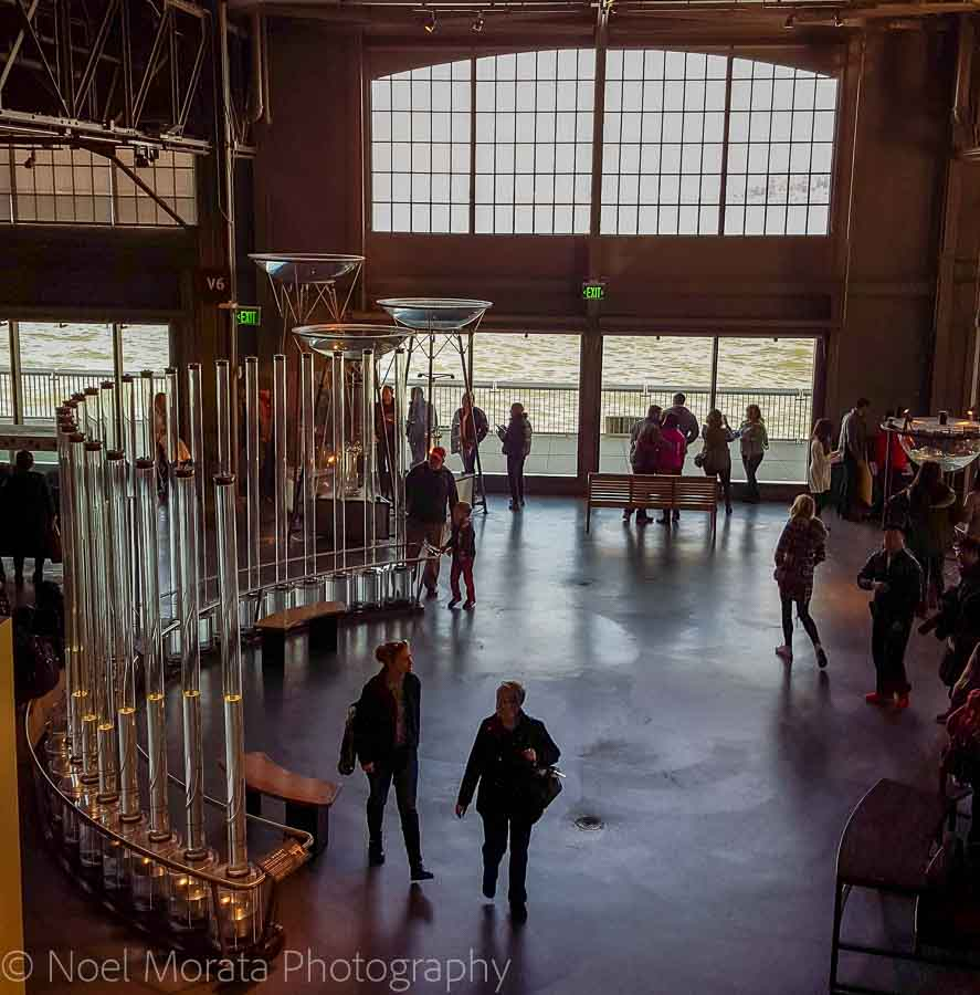 Interior space at the Exploratorium - Fun and unusual activities to do in San Francisco