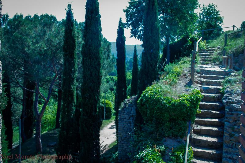 Girona Spain, ramparts