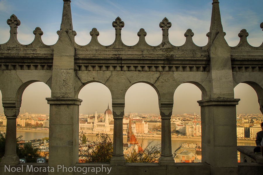 Fisherman's Bastion details Best places to photograph Budapest Hungary