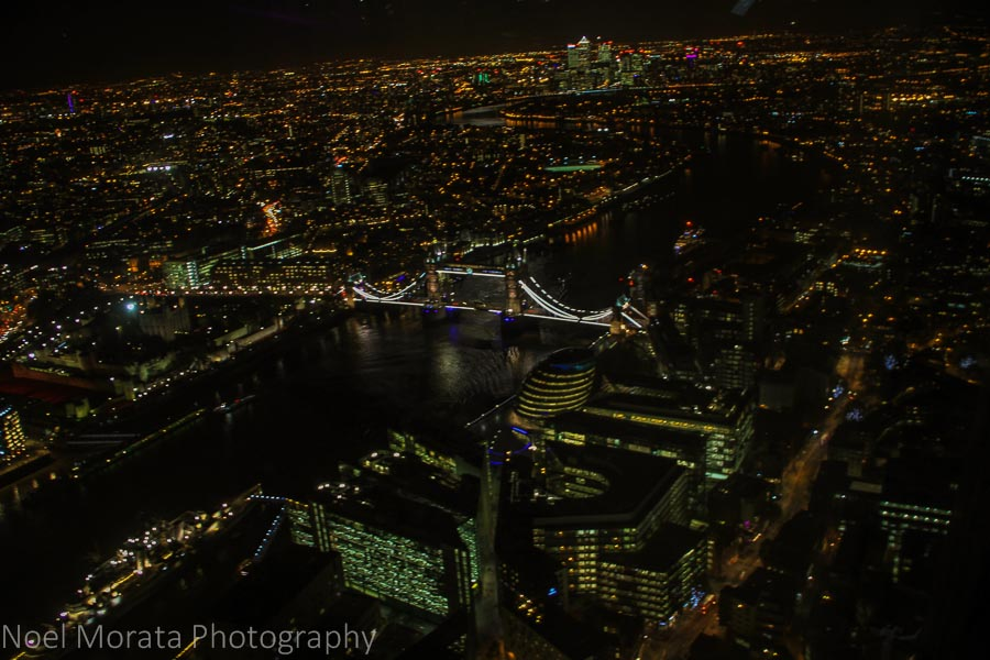 The view from the Shard - places to visit in London