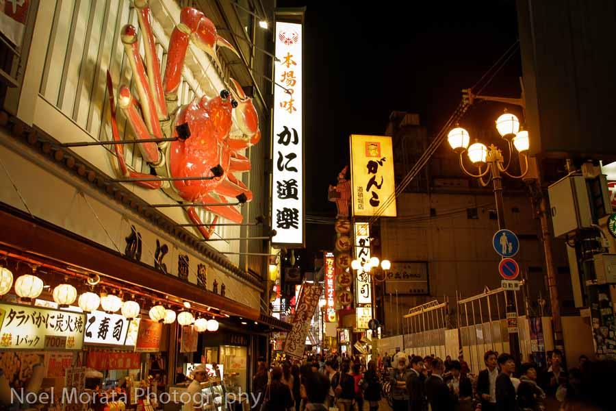 Dotonbori with huge 3d displays - Exploring Dotonbori in Osaka