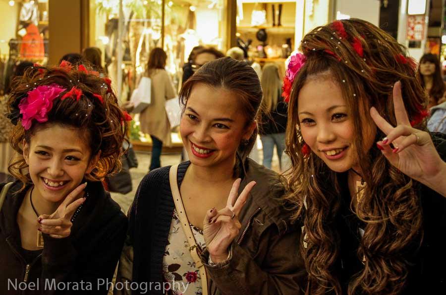 Smiling girls at Dotonbori -Exploring Dotonbori in Osaka