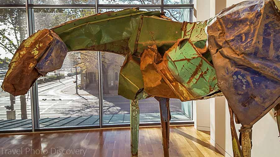 Metal horse sculpture at Columbus Museum of Art