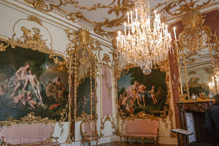 Rococo style Interior room at the Neues Palais in Sanssouci