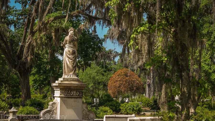 Scenic landscape at Bonaventure Cemetery Savannah