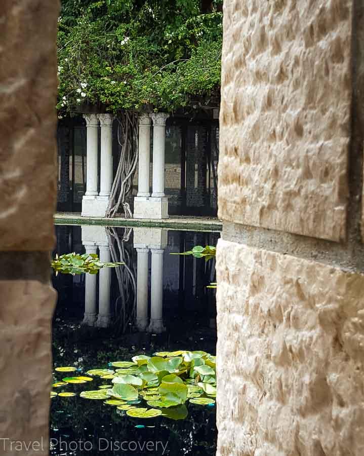 Views to the pond at Holocaust Memorial Miami Beach