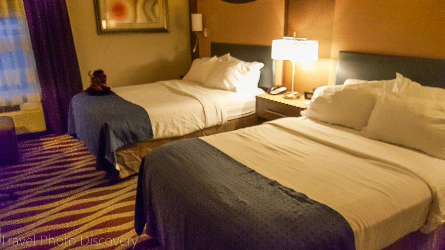 Holiday Inn bedroom, Cody Wyoming