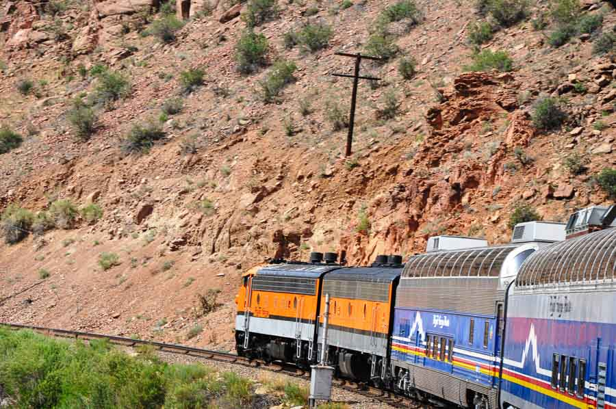Dome Cars And Engine, Train Routes Through The USA